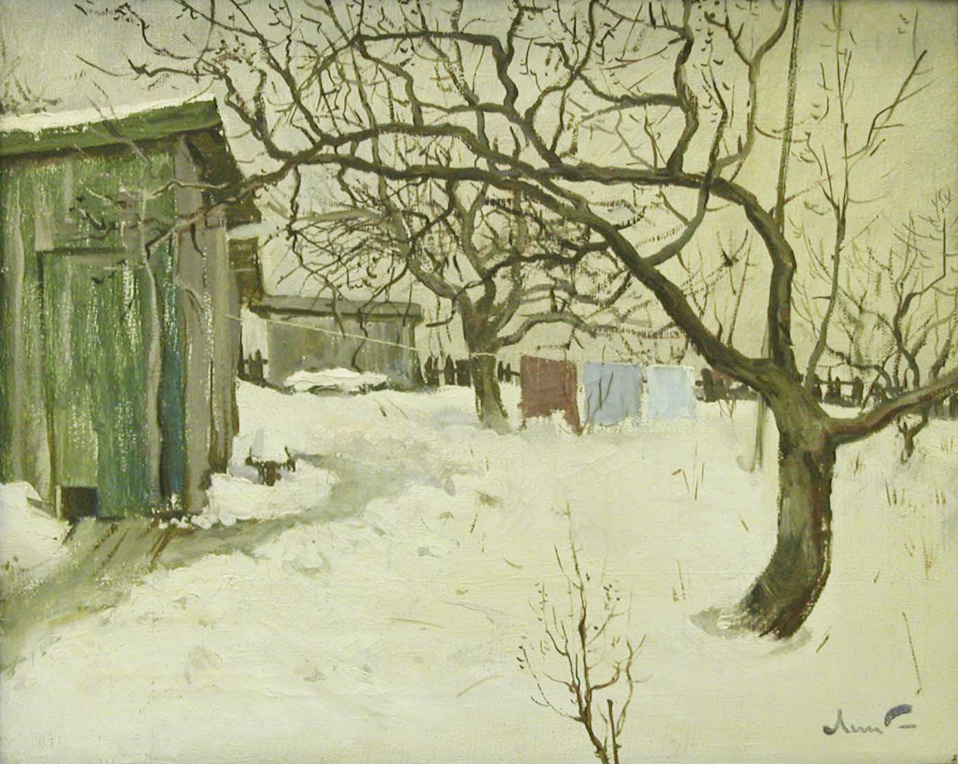 Виктор Лысюк. Зимний сад (1984). Из собрания Пушкинского заповедника