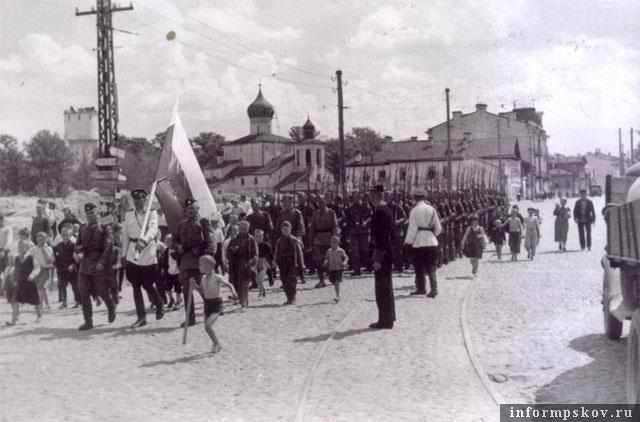 Парад РОА в Пскове
