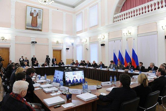 Заседание Совета по культуре при президенте РФ в Пскове