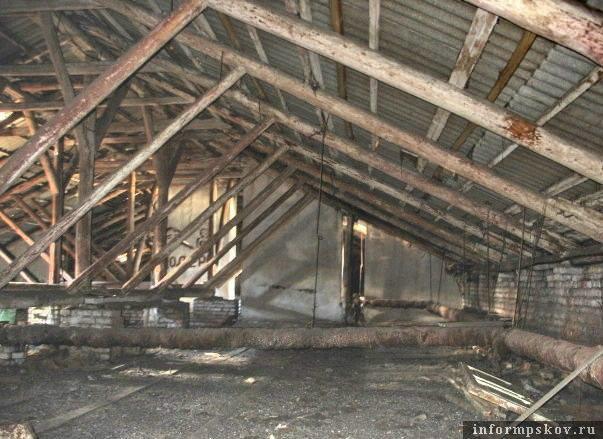 Чердак псковского дома до реконструкции