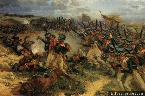 Фрагмент панорамы Бородинского сражения.