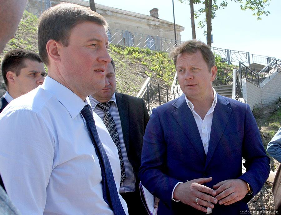 На фото: Андрей Турчак (слева) и Роман Кухи (справа)