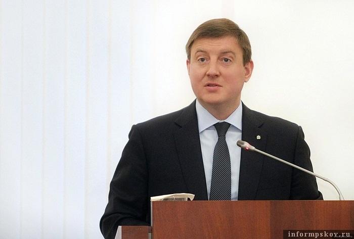 """Андрей Турчак в своем бюджетном послании призвал """"сплотиться вокруг лидера"""". Фото с сайта pskov.ru"""