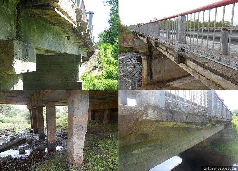 Мосты в Псковской области, которые власти рассчитывают отремонтировать за счёт «Платона» в первую очередь