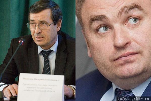 На фото: (слева направо) Валерий Медведев и Виталий Голиков