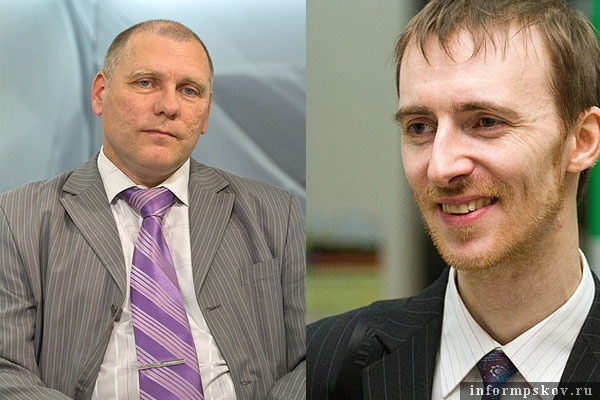 На фото: (слева направо) Игорь Сильченков и Юрий Колесников