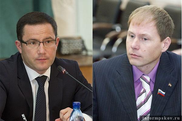 На фото: (слева направо) Пётр Слепченко и Аркадий Мурылёв