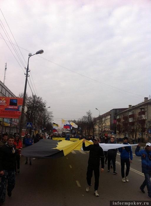 Фото, сделанное Константином Вилковым на Русском марше в 2014 году. Фото из социальных сетей
