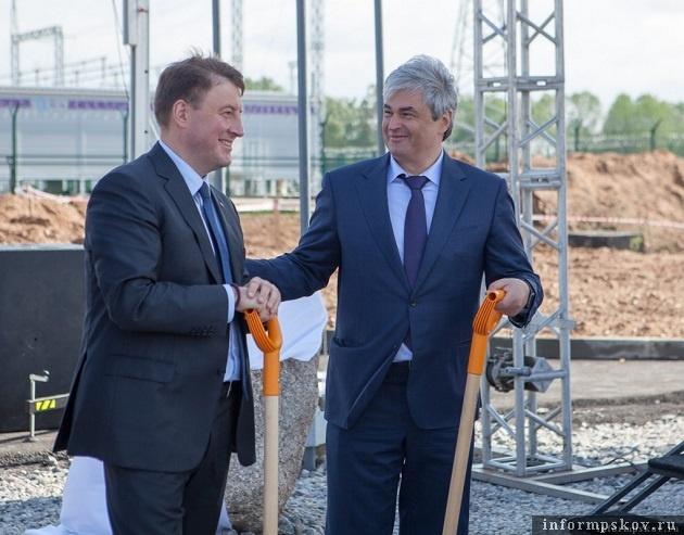 """Церемония закладки здания завода в """"Моглино"""""""