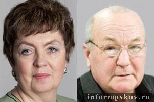 На фото бывшие представители «Справедливой России» в Собрании  Лилия Никифорова и Юрий Новохижин.