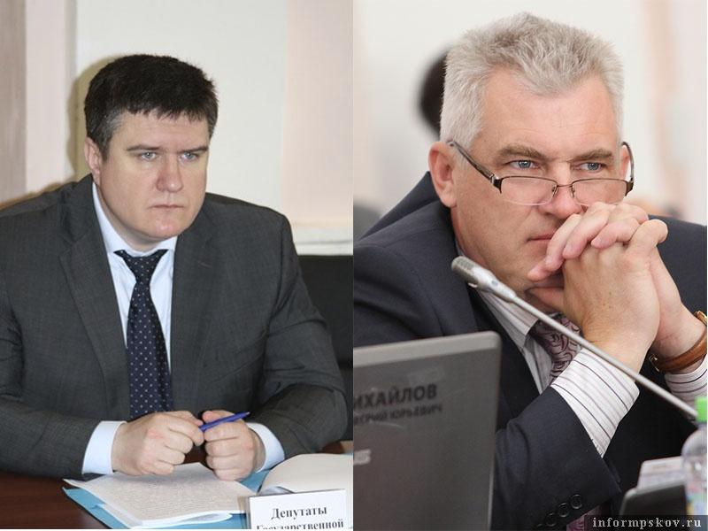 На фото: (слева направо) Александр Борисов и Олег Савельев