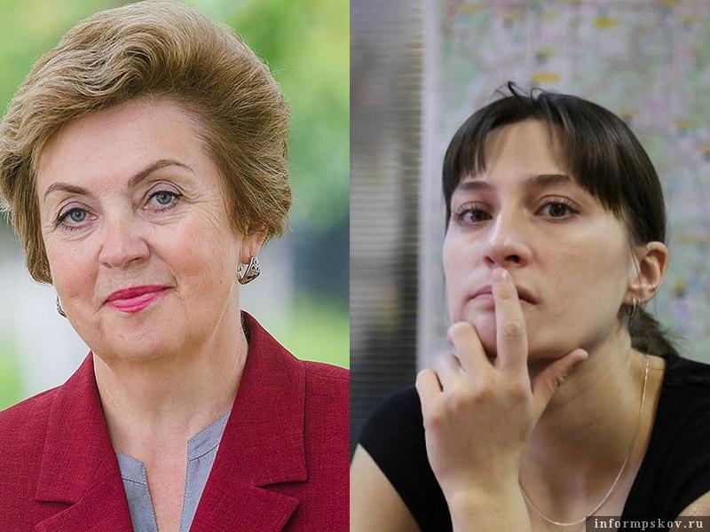 На фото: (слева направо) Лилия Никифорова и Елена Демченкова