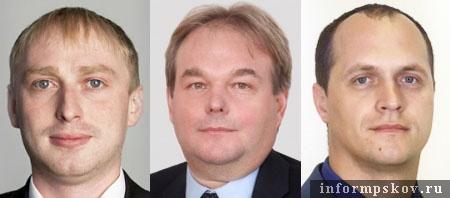 На фото (слева направо) действующие представители ЛДПР в областном Собрании: Антон Минаков, Сергей Литвиненко и Юрий Павлинов.