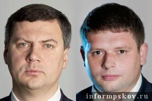 На фото (слева направо) не вошедшие в Собрание шестого созыва от ЛДПР Василий Салопов и Сергей Макарченко