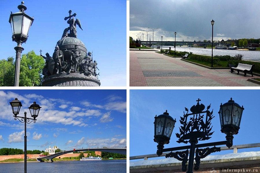 Фонари в Великом Новгороде