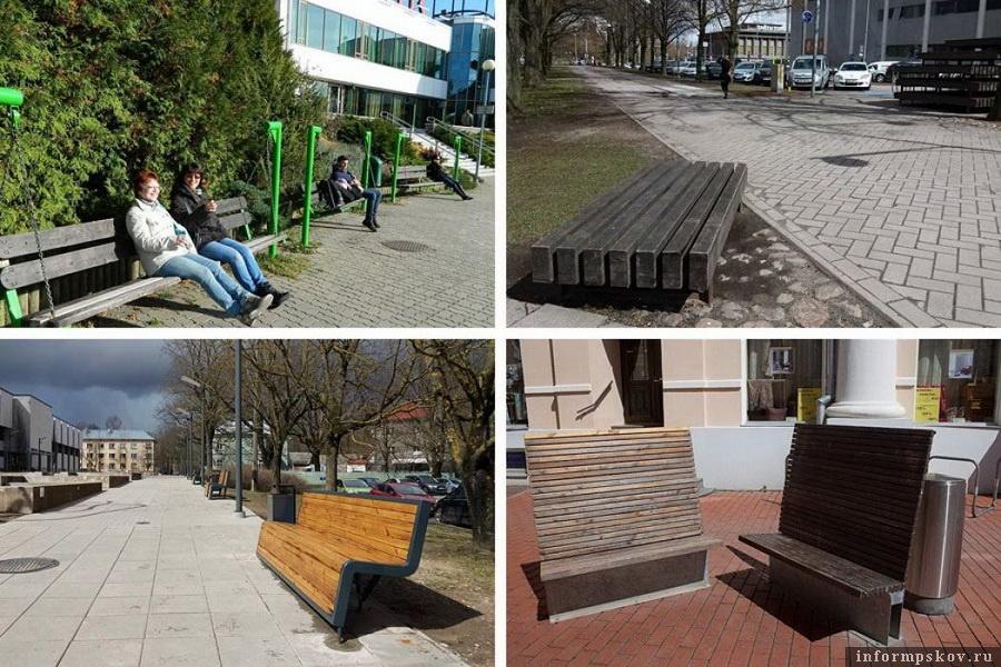 На фото: Антивандальные скамейки в Тарту (Эстония)