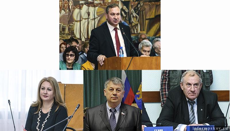 На фото: верхний ряд - Иван Цецерский, нижний ряд (слева направо) - Елена Полонская, Сергей Гаврилов и Владимир Воробьёв