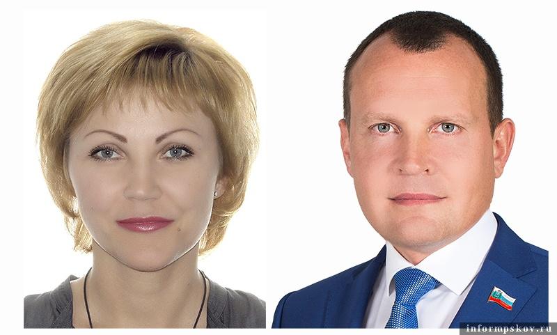 На фото: Юлия Пожидаева и Олег Брячак
