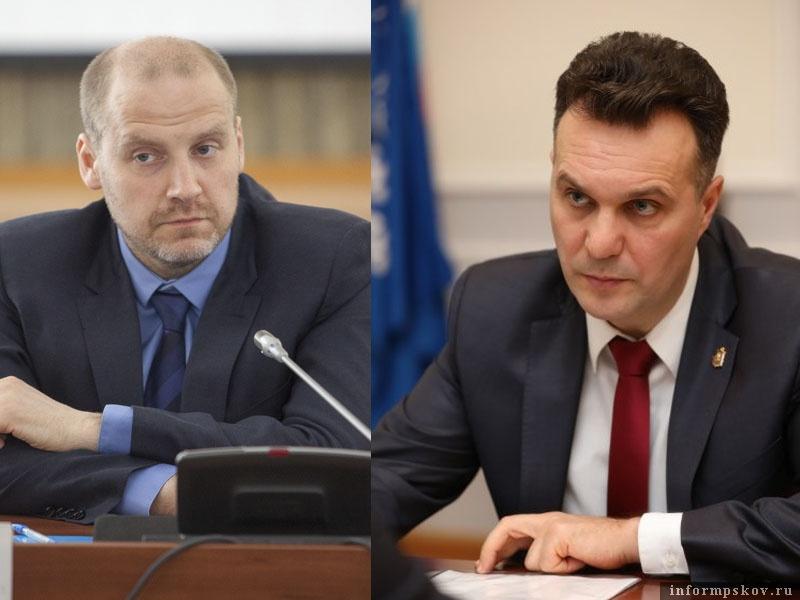 На фото: (слева направо) Максим Жаворонков и Николай Цветков