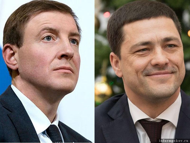 На фото: (слева направо) Андрей Турчак и Михаил Ведерников
