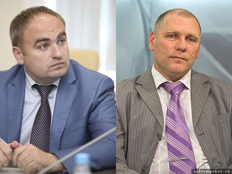 На фото: (слева направо) Виталий Голиков и Игорь Сильченков