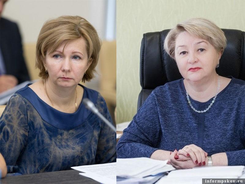 На фото: (слева направо) Лариса Васильева и Людмила Гребнева