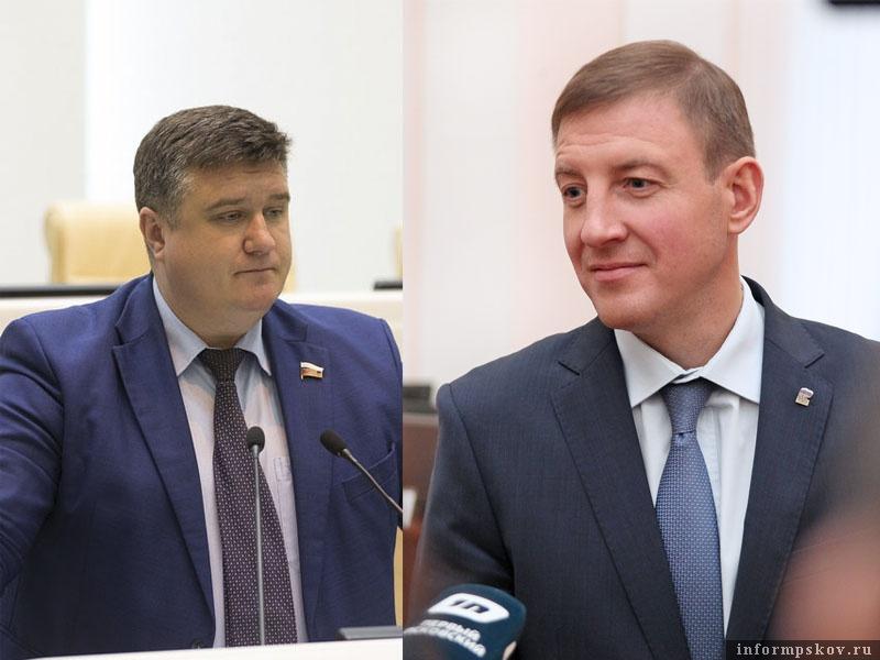 На фото: (слева направо) Александр Борисов и Андрей Турчак