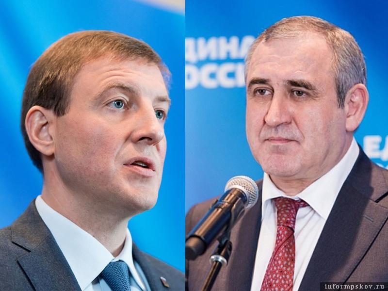 На фото: (слева направо) Андрей Турчак и Сергей Неверов
