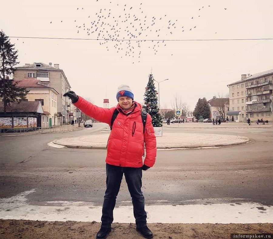 Роман Рябцев в Печорах. Фото из социальных сетей