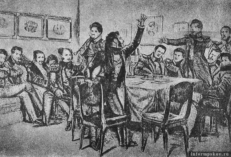 Картина Дмитрия Кардовского «Пушкин среди декабристов в Каменке»