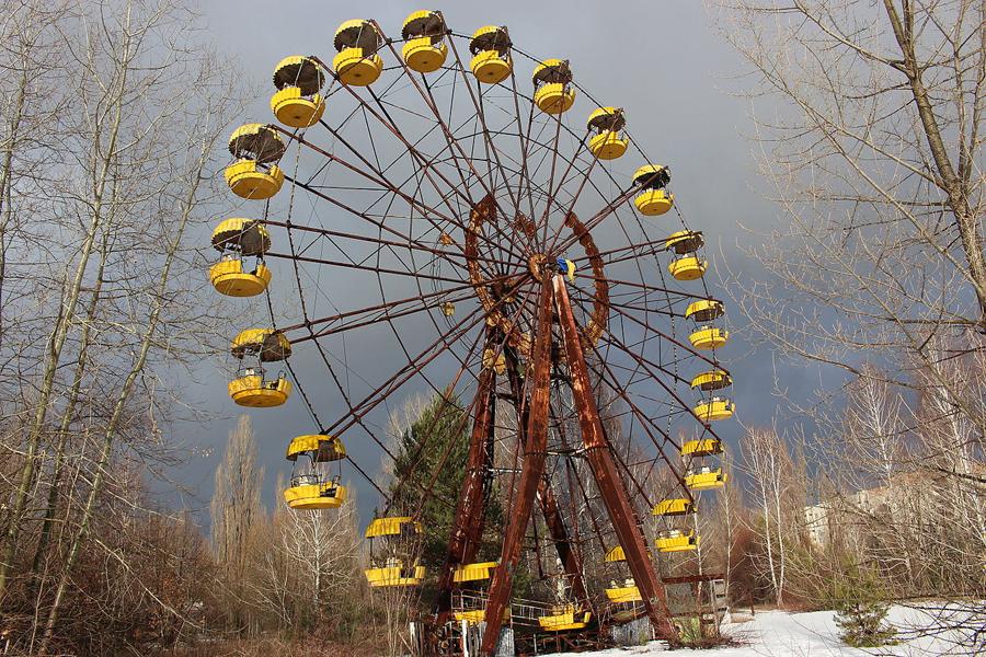 Колесо обозрения в городском парке Припяти (фото Alexander Blecher, Wikipedia)
