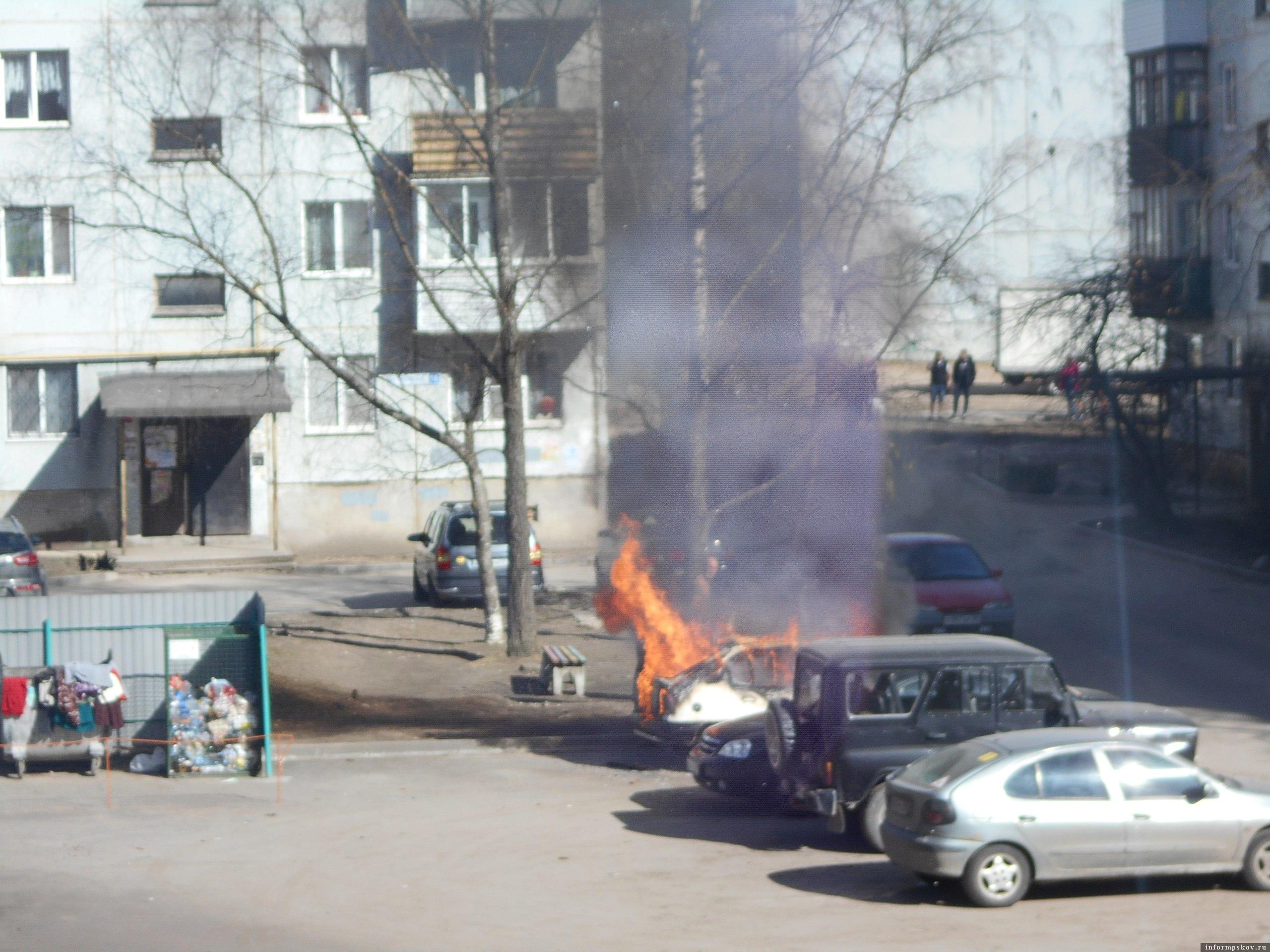 Фото очевидца в группе «Жесть по-псковски»