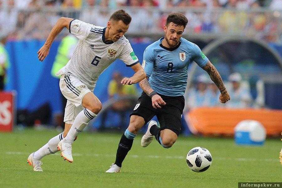 Матч с Уругваем. Фото из официального Твиттера сборной.