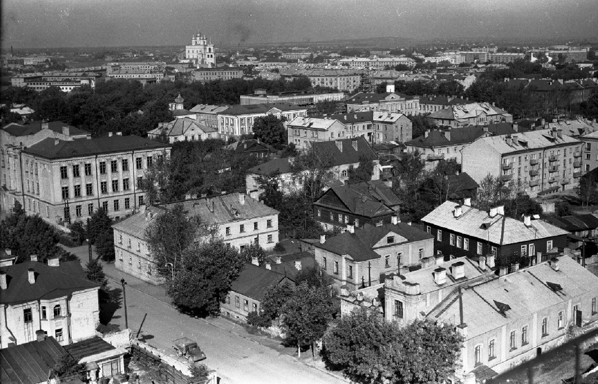 Фото 1969 г. Б.С.Скобельцина. В правом нижнем углу - Усадьба Журавлевых