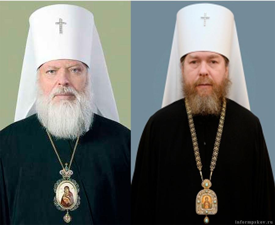 На фото: (слева направо) митрополит Евсевий и митрополит Тихон (Шевкунов)
