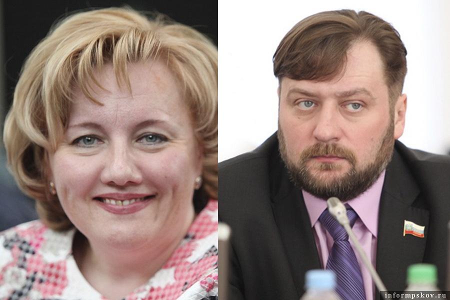 На фото: Ирина Толмачёва и Алексей Блинов