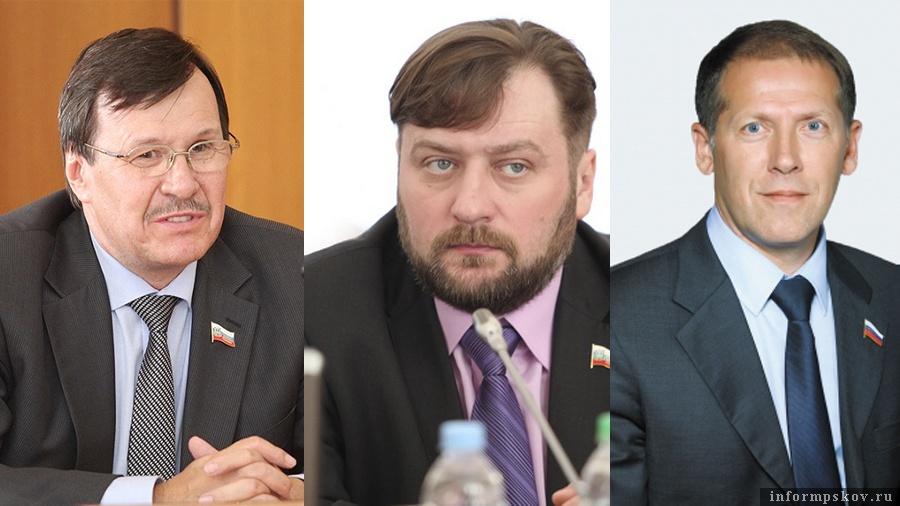 На фото: (слева направо) Валентин Каленский, Алексей Блинов и Юрий Сорокин
