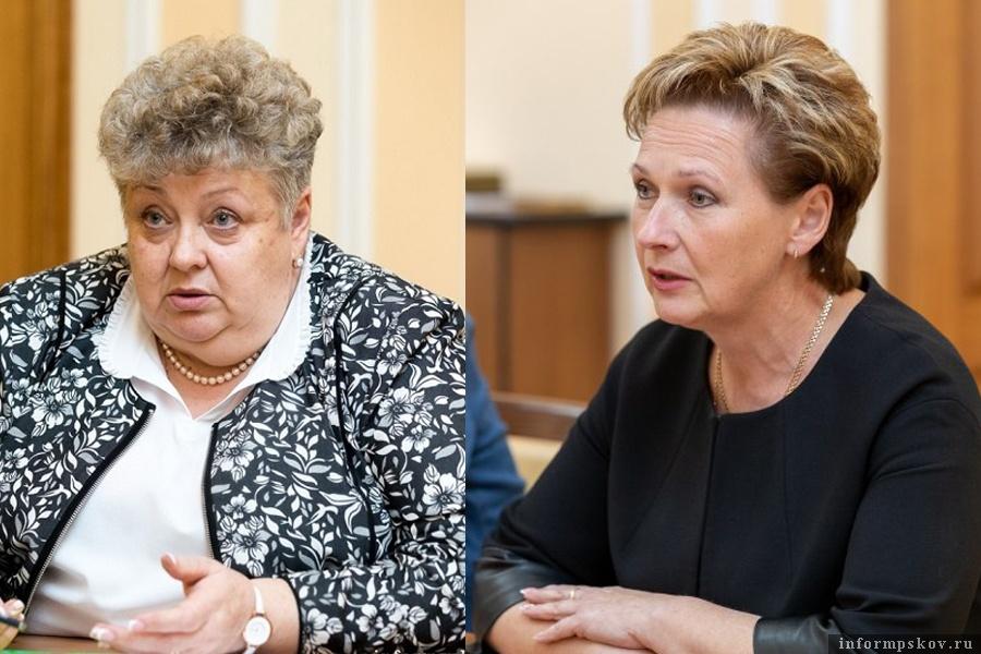На фото: (слева направо) Лариса Сидорук и Вера Кондратьева