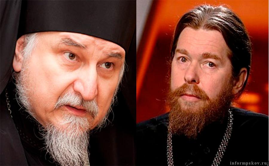 На фото: (слева направо) архимандрит Тихон (Секретарёв) и митрополит Тихон (Шевкунов)