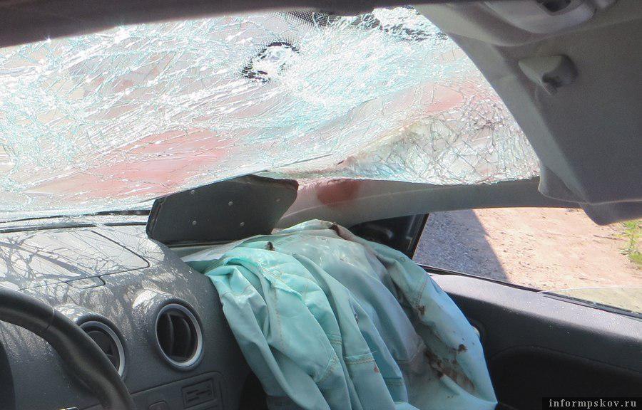 Фото с места ДТП, в результате которого пострадавший стал инвалидом