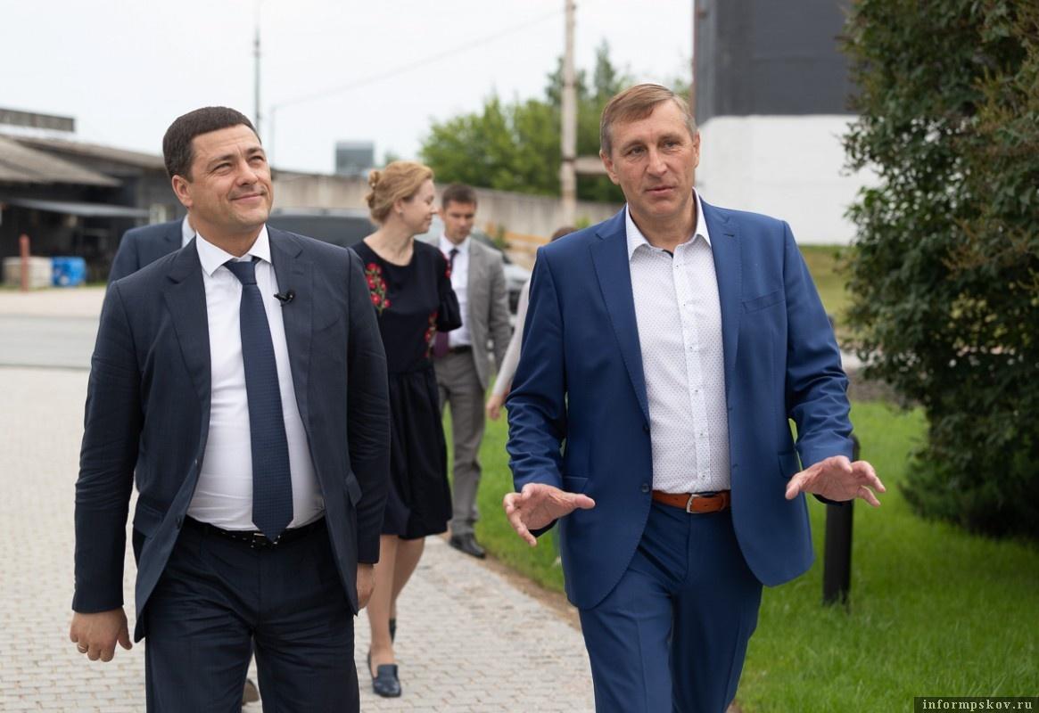 Михаил Ведерников и Игорь Поляков. Фото с pskov.ru