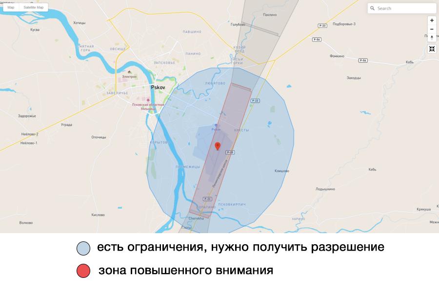 Карта предоставлена DJI