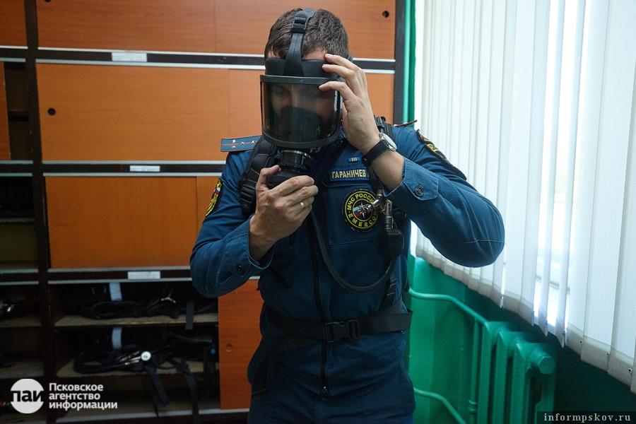Дыхательный аппарат, обеспечивающий защиту в течение 30-40 минут