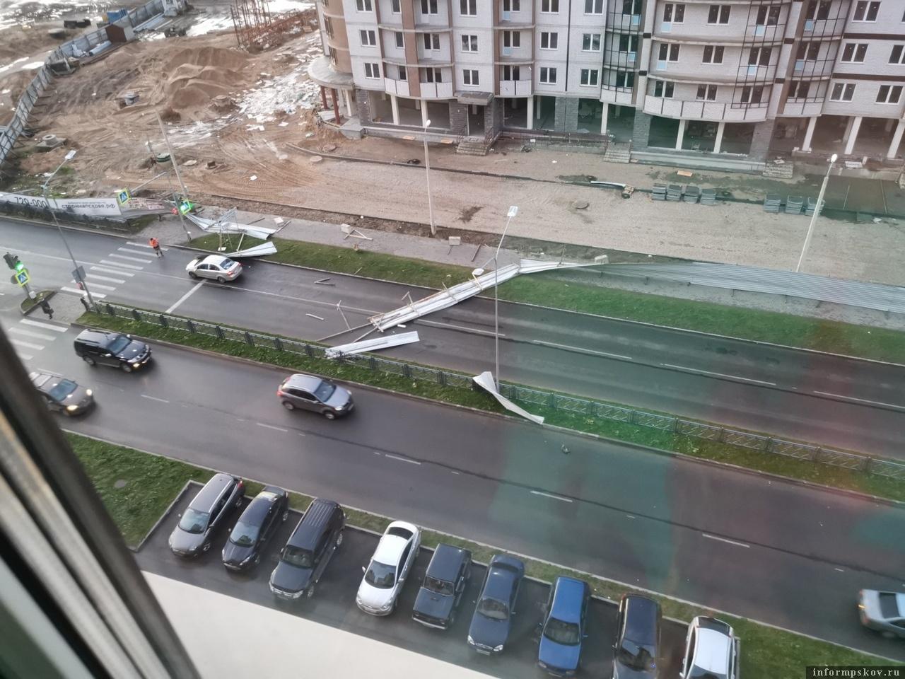 """Псков. Улица Балтийская. Фото из группы """"Жесть по-псковски"""""""