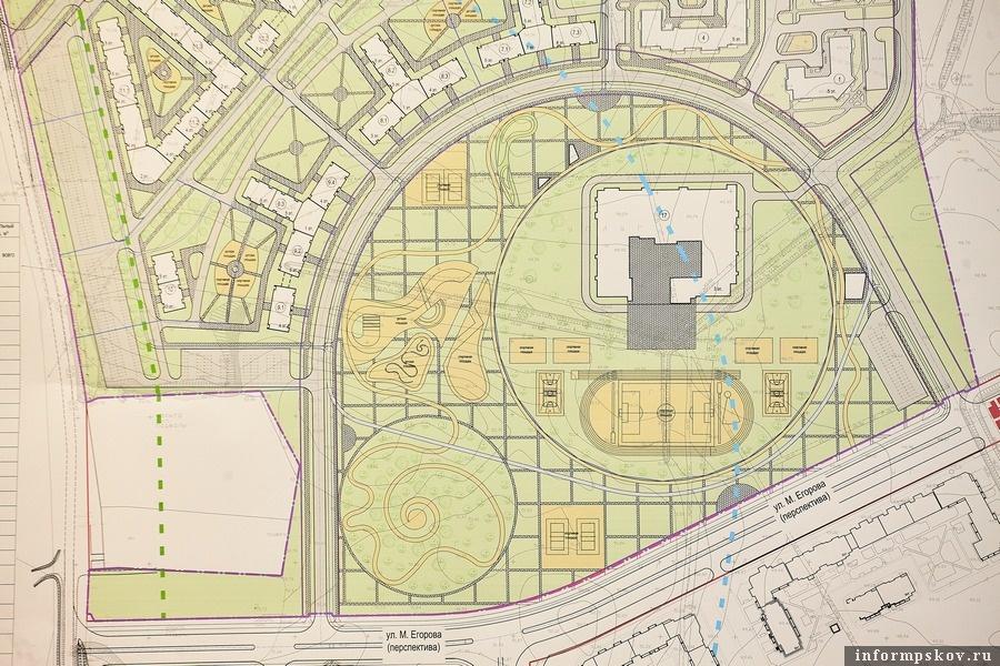 Проектный план будущего ЖК в Борисовичах