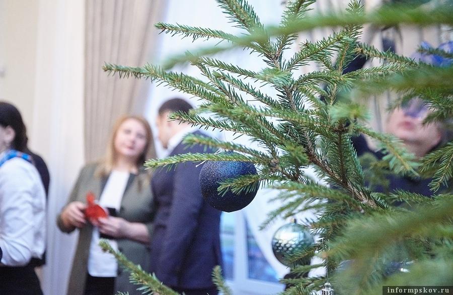 "Благотвоительная акция ""Елка желаний"" прошла в Пскове 23 декабря. Фото: Дарья Хваткова"
