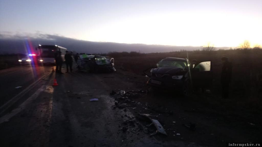 ДТП произошло в Псковском районе 13 января.