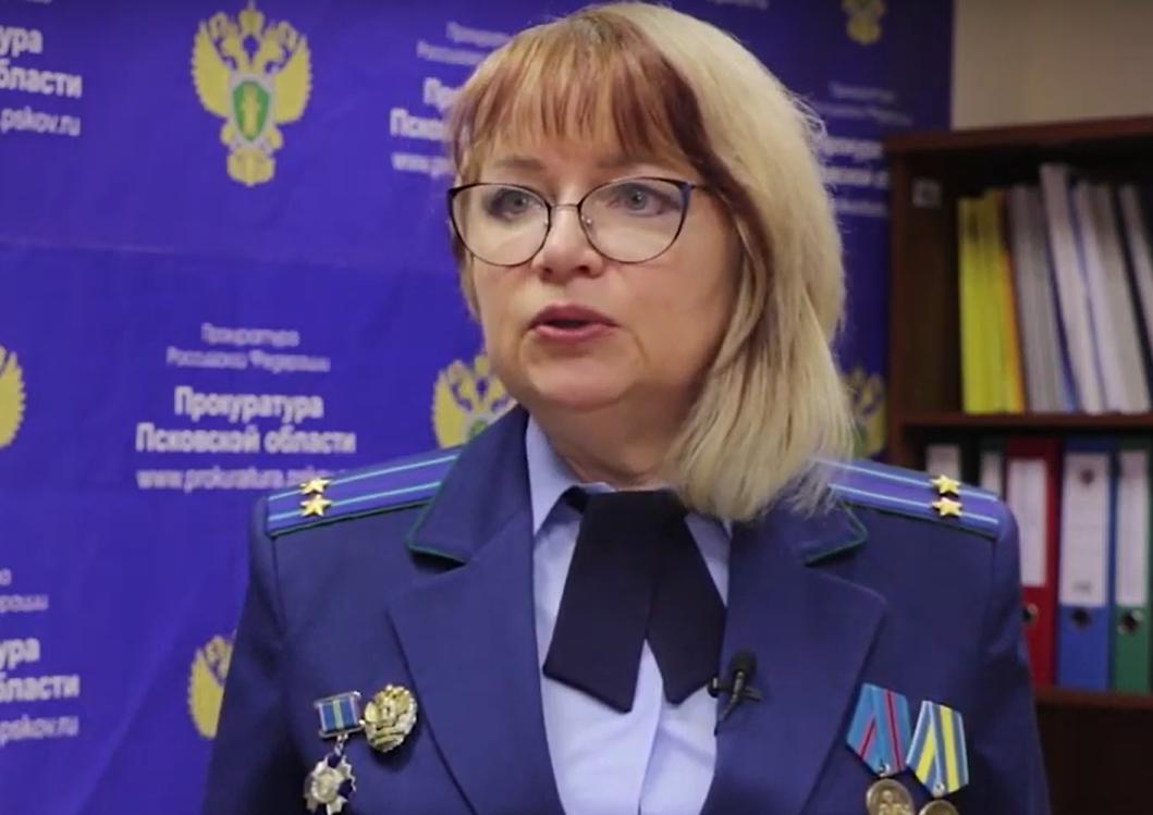 На фото: Марина Яковлева. Скриншот из видео телеканала «Первый псковский»