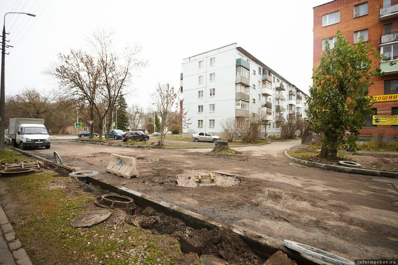 Улица Киселёва в Пскове. Фото Дарьи Хватковой.