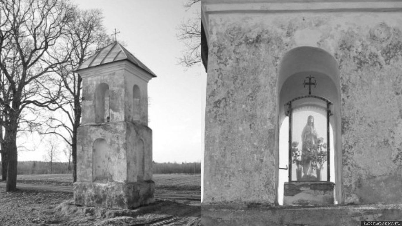 Придорожная часовня в Романишках. Фото Андрея Дыбовского, 2006-й год (orda.of.by)